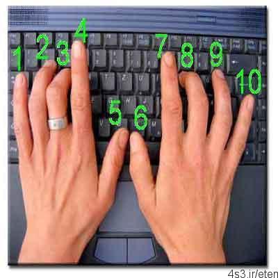 روش تایپ ۱۰ انگشتی با صفحه کلید
