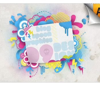 illustrator 350x295 - آموزش ایلوستریتور خلق یک زمینه زیبا از ترکیب تصاویر مختلف وکتور