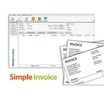 invoice 350x350 - دانلود نرم افزار مدیریت فاکتور ها و مشتریان در کسب و کارهای کوچک Simple Invoice v3.10.5