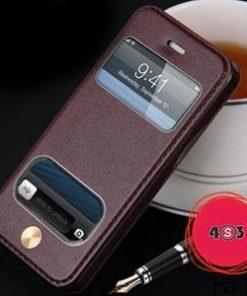 کیف چرمی گوشی موبایل Iphone 5،۵S،SE