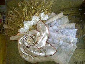 آموزش تزیین روسری عروس(گل رز) سایت 4s3.ir