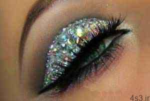 آموزش تصویری آرایش چشم براق مخصوص میهمانی های شب سایت 4s3.ir