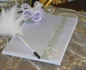 تزیین دفتر یادگاری عروسی سایت 4s3.ir