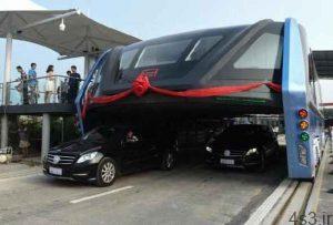 تصاویر بلندترین اتوبوس دنیا  فرار از شر ترافیک سایت 4s3.ir
