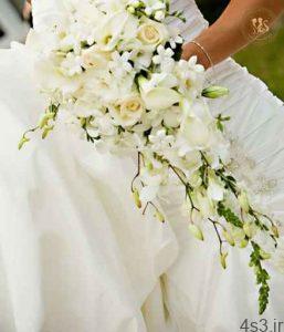 دسته گل عروس با گلهای سفید سایت 4s3.ir