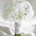دسته گل عروس به رنگ سفید سایت 4s3.ir
