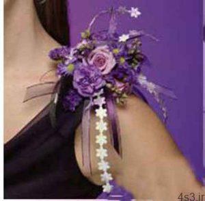 دسته گل عروس به صورت بازوبند سایت 4s3.ir