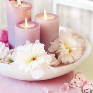 شمع آرایی(ترئین میز با شمع و گل) سایت 4s3.ir