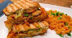 طرز تهیه ساندویچ مرغ مکزیکی سایت 4s3.ir