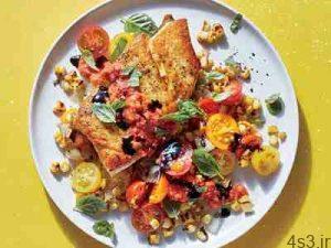 طرز تهیه ماهی با سبزیجات تابستانی سایت 4s3.ir