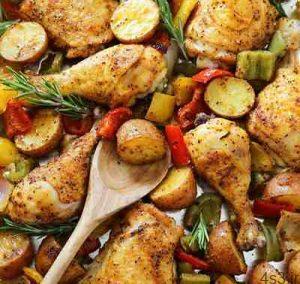 طرز تهیه مرغ و سیب زمینی تنوری سایت 4s3.ir