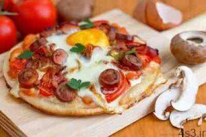 طرز تهیه پیتزا مخصوص صبحانه سایت 4s3.ir