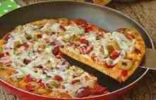 طرز تهیه پیتزا پپرونی بدون فر سایت 4s3.ir