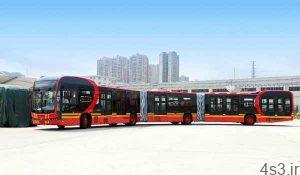 طولانی ترین اتوبوس برقی دنیا رونمایی شد سایت 4s3.ir
