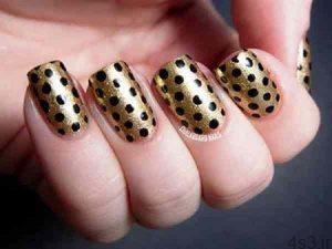 مدلهای جدید طراحی و آرایش ناخن مشکی و طلایی برای شب سایت 4s3.ir