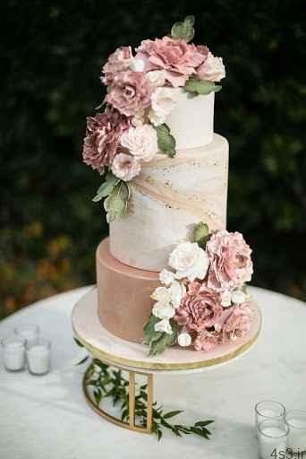 مدل کیک عروسی شیک و زیبا سایت 4s3.ir