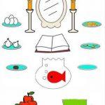 نقاشی های کودکانه سفره هفت سین سایت 4s3.ir