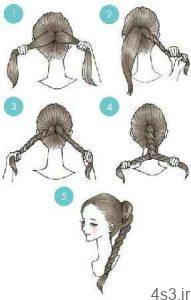آموزش مدلهای موی زیبا و ساده سایت 4s3.ir