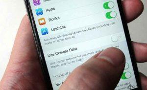اپلیکیشن های آیفون را در مصرف اینترنت همراه محدود کنیم سایت 4s3.ir