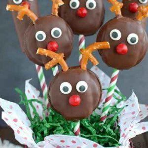 شیرینی های گوزنی به مناسبت کریسمس سایت 4s3.ir