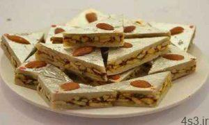 طرز تهیه دسر بادام و پسته شیرینی مخصوص عید نوروز سایت 4s3.ir