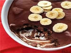 طرز تهیه پودینگ شکلات و موز بدون نیاز به پخت سایت 4s3.ir