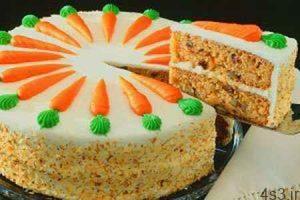 طرز تهیه کیک هویج با فراستینگ پنیری سایت 4s3.ir