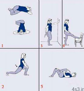 ورزش درمانی برای کمر درد و سیاتیک سایت 4s3.ir