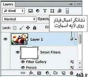 استفاده از Smart Filter در طراحي (فتوشاپ) سایت 4s3.ir