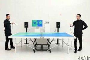 این میز پینگ پنگ متناسب با بازی موسیقی پخش میکند سایت 4s3.ir