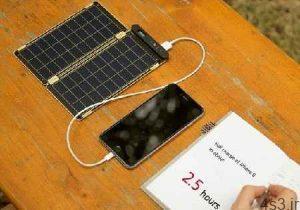 شارژ تلفن همراه با کاغذ خورشیدی سایت 4s3.ir