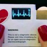 کارت ویزیت مجهز به حسگر شمارش ضربان قلب!! سایت 4s3.ir