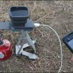 تصاویر یک شارژر آتشی/ شارژ تلفن با آتش مستقیم سایت 4s3.ir