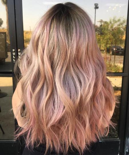 rose gold hair 1 - انواع رنگ موی رزگلد