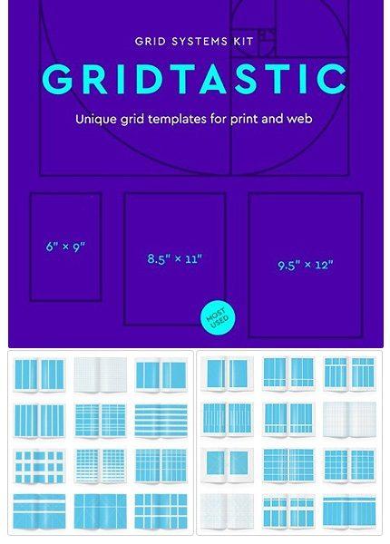 قالب آماده ایندیزاین، صفحات شبکه بندی شده Gridtastic Grid Kit 430x600 - دانلود قالب آماده ایندیزاین، صفحات شبکه بندی شده - Gridtastic Grid Kit
