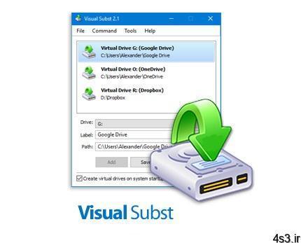 NTWind Visual Subst v3.6 نرم افزار ایجاد درایو مجازی از پوشه های سیستم یا فضا های ابری - دانلود NTWind Visual Subst v3.6 - نرم افزار ایجاد درایو مجازی از پوشه های سیستم یا فضا های ابری