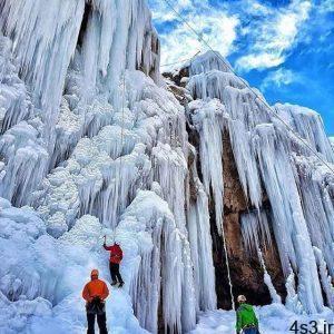 آبشار یخی هملون، از جاذبه های زمستانی تهران (+تصاویر) سایت 4s3.ir