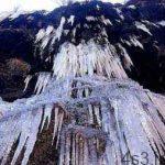 آبشار یخزده و قندیلهای یخی مشهد سایت 4s3.ir