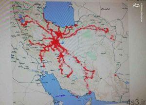 خبرهای پزشکی : تصویرِ طرح اولیه نقشه انتشار کرونا از مبدا قم سایت 4s3.ir