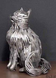 ساخت مجسمههای جالب با قاشق و چنگال (+تصاویر) سایت 4s3.ir