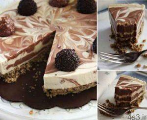 طرز تهیه چیزکیک شکلاتی بدون پخت سایت 4s3.ir