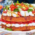 طرز تهیه کیک میوه های تابستانی سایت 4s3.ir