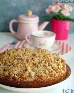 طرز تهیه کیک کرامبل سیب سایت 4s3.ir
