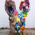 یک هنرمند زباله ها را به مجسمه های دیدنی تبدیل می کند سایت 4s3.ir