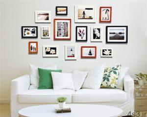 ایده هایی برای چیدمان قاب عکس روی دیوار سایت 4s3.ir