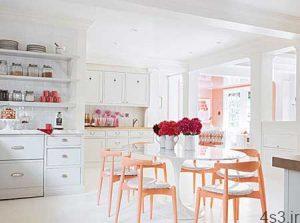 ایده هایی برای چیدن یک آشپزخانه رنگی و زیبا سایت 4s3.ir