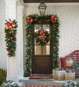 تزیینات ورودی خانه برای کریسمس سایت 4s3.ir