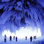 زیبایی های طبیعت با دریاچه یخ زده Superior سایت 4s3.ir