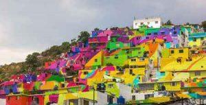 شهر رنگین کمانی در مکزیک (+تصاویر) سایت 4s3.ir