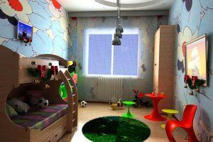 طراحی اتاق بازی كودكان سایت 4s3.ir